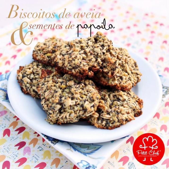 biscoitos de aveia e sementes de papoila