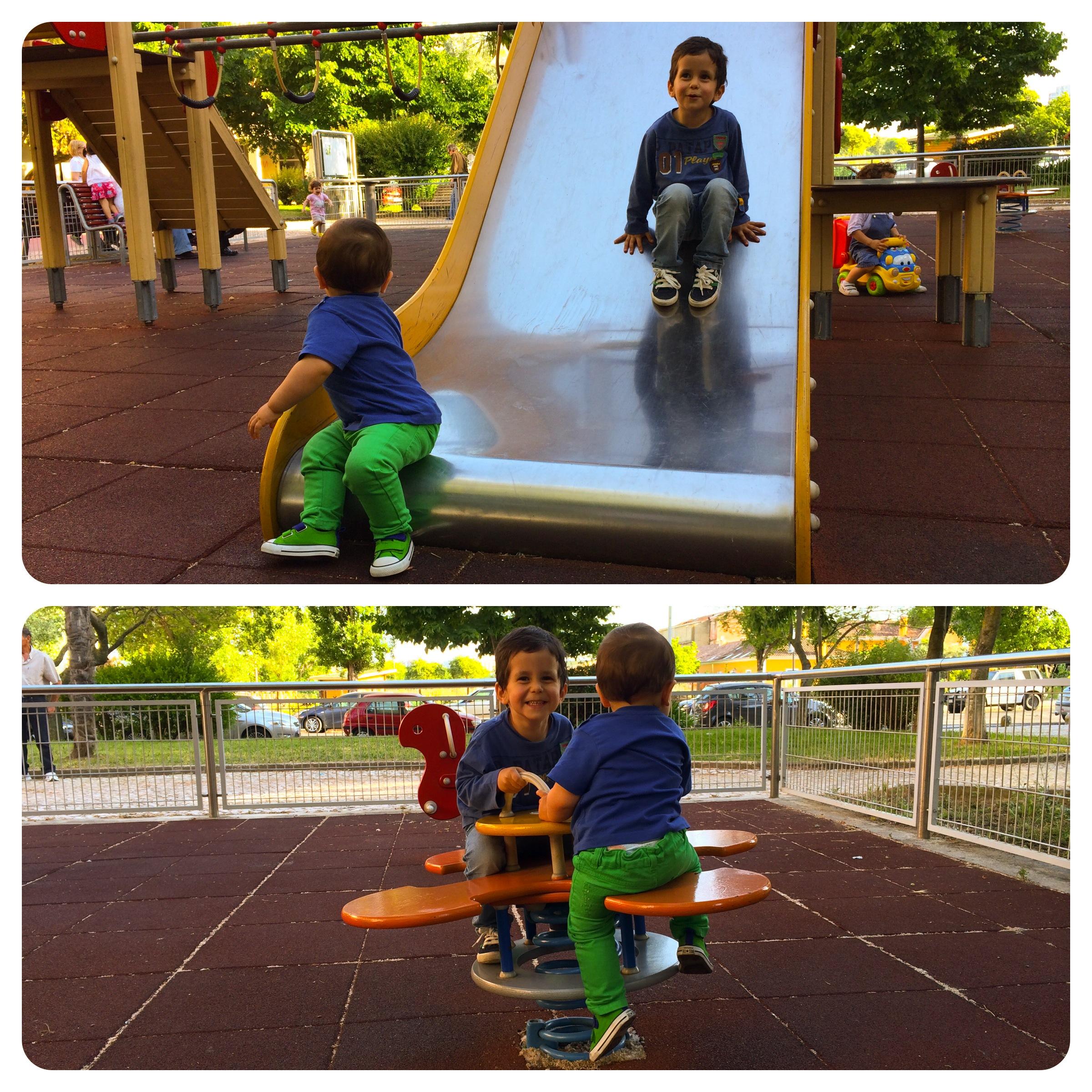Fim de tarde no parque