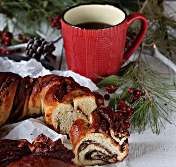 Rosca de Natal com Chocolate